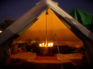 Red sky Tent co bell tent internal furnishings
